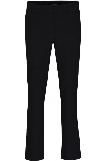 Tailored Straight Leg Short Jacklyn Trousers - Black - 51408-5689-90
