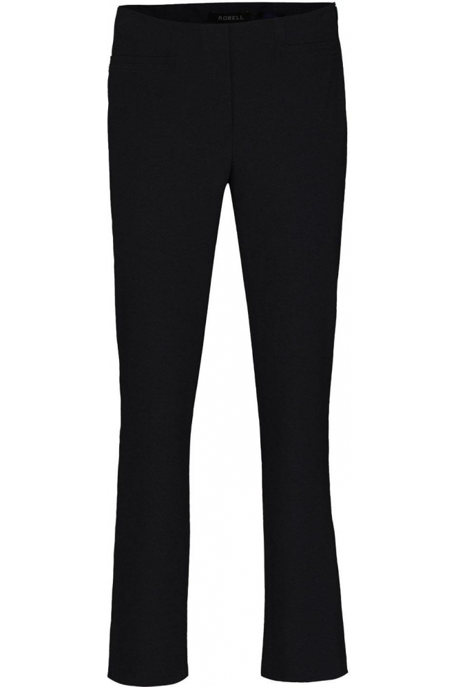 Robell Tailored Straight Leg Short Jacklyn Trousers - Black - 51408-5689-90S