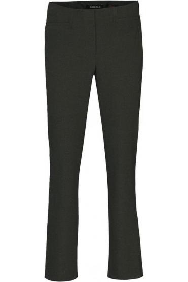 Tailored Straight Leg Short Jacklyn Trousers - Grey - 51408-5689-197