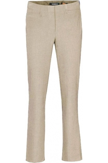 Tailored Straight Leg Short Jacklyn Trousers - Light Beige 113 - 51408-5689-113