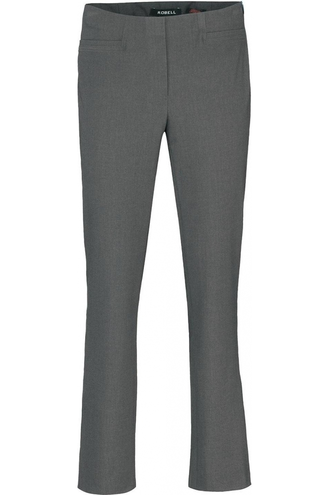 Robell Tailored Straight Leg Short Jacklyn Trousers - Silver- 51408-5689-91