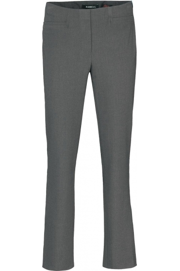 Tailored Straight Leg Short Jacklyn Trousers - Silver- 51408-5689-91