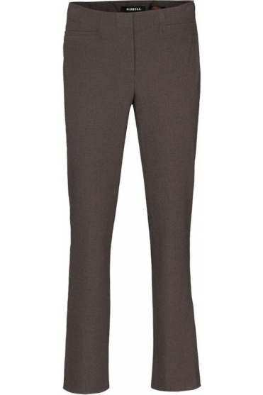 Tailored Straight Leg Short Jacklyn Trousers - Taupe - 51408-5689-1118