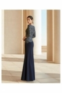 Rosa Clará Embellished Detail Evening Gown - Marine - 4T144