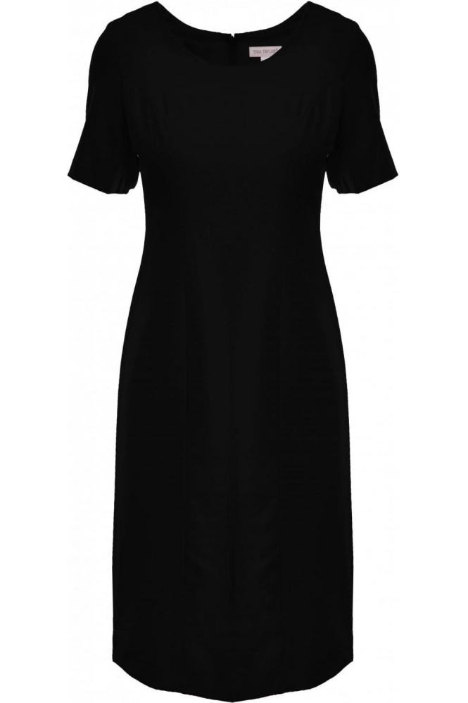 Tina Taylor Short Sleeve Shift Dress - Black - 537331
