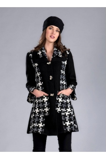 Geometric Textured Wool Jacket - 3527