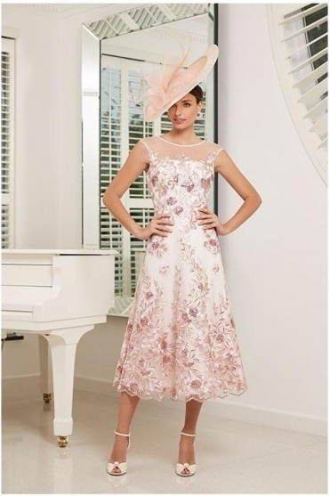 Embroidered Floral Detail Dress - Blush/Ivory - 991532