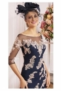 Veni Infantino Lace Detail Two Piece - French Navy/Antique Rose - 991489