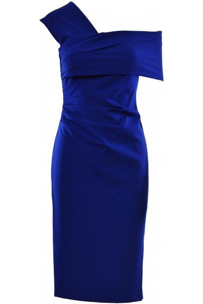 Veromia One Shoulder Ruched Dress - VO56G