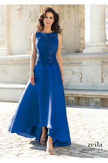 High Low Hem Embellished Gown - 3020397