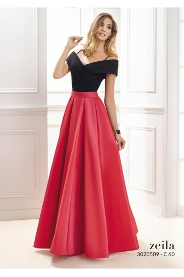 Off the Shoulder Full Gown - 3020509